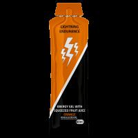 Lightning Endurance Energy Gel Squeezed Fruit Juice - Orange - 24 x 60 ml